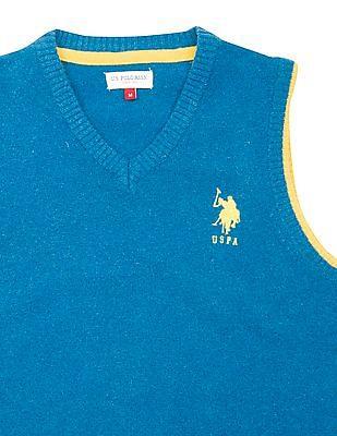 U.S. Polo Assn. Kids Boys V-Neck Sleeveless Sweater