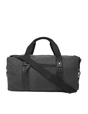 U.S. Polo Assn. Pleather Trim Canvas Duffel Bag