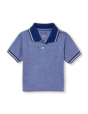 The Children's Place Toddler Boy Blue Short Sleeve Pique Polo