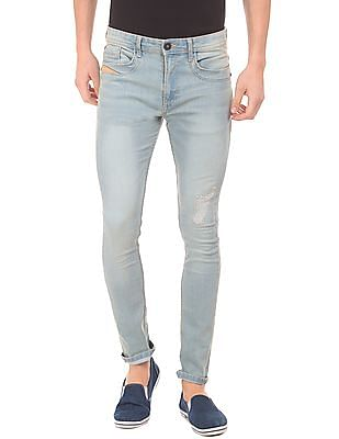 Cherokee Stone Washed Slim Fit Jeans