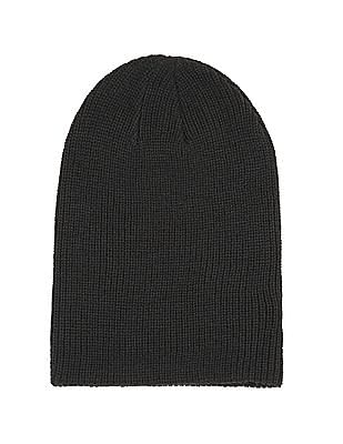 Aeropostale Solid Ribbed Knit Beanie