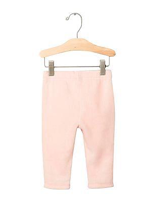 GAP Baby Pink Pro Fleece Solid Pants