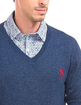 U.S. Polo Assn. Solid Slim Fit Sweater
