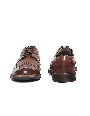 U.S. Polo Assn. Wingtip Leather Brogue Shoes
