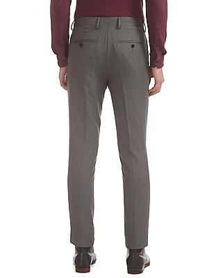 Arrow Slim Fit Flat Front Trousers