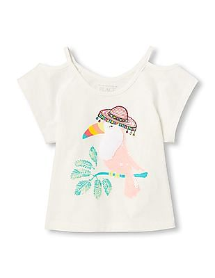 The Children's Place Baby Cold Shoulder Graphic Top