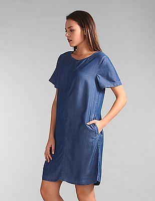 GAP Chambray Flare Dress
