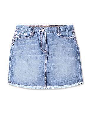 U.S. Polo Assn. Kids Girls Regular Fit Denim Skirt
