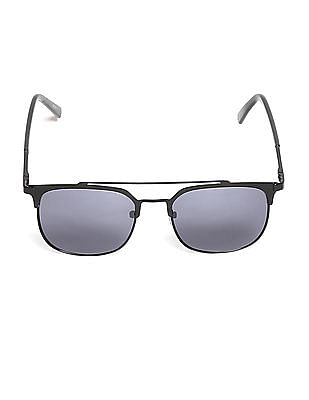 Flying Machine Black Square Frame UV Protected Sunglasses