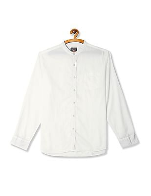 Flying Machine Regular Fit Mandarin Collar Shirt