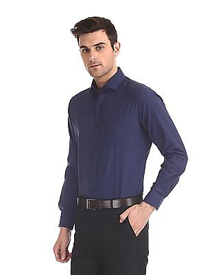 Excalibur Mitered Cuff Solid Shirt