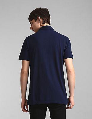 GAP Blue Vintage Slub Jersey Polo Shirt