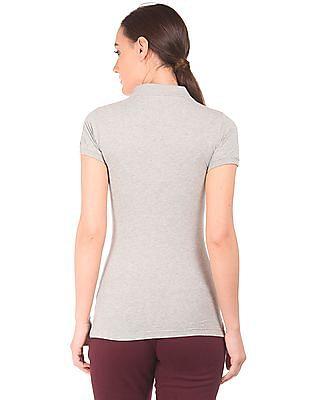 Aeropostale Heathered Jersey Polo Shirt
