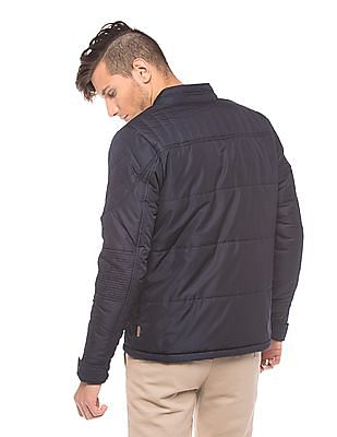 Flying Machine Stand Neck Quilted Jacket
