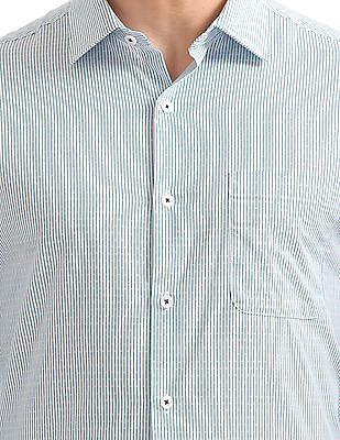 Excalibur French Placket Striped Shirt