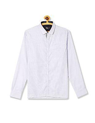 Excalibur Long Sleeve Patterned Weave Shirt