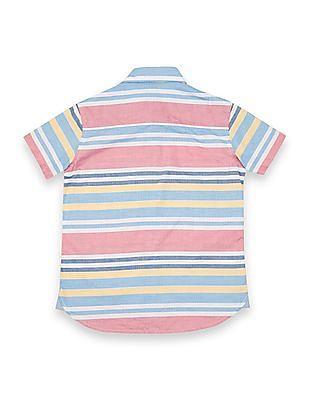 U.S. Polo Assn. Kids Boys Regular Fit Striped Shirt