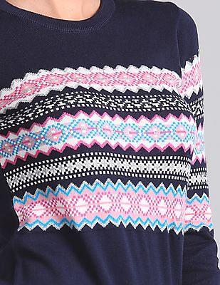 GAP Long Sleeve Patterned Sweater