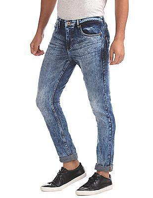 Cherokee Skinny Fit Acid Wash Jeans