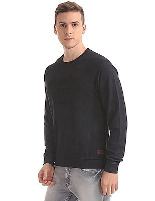 Flying Machine Slim Fit Debossed Front Sweatshirt