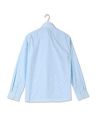 Arrow Slim Fit Jacquard Weave Shirt