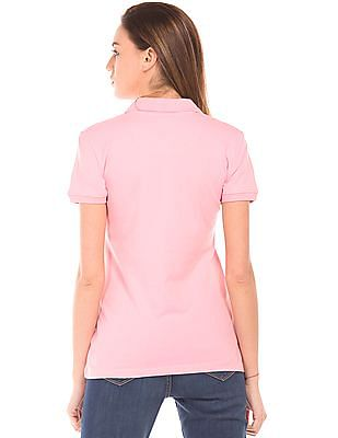Aeropostale Solid Regular Fit Polo Shirt