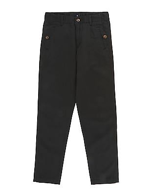 Cherokee Boys Flat Front Solid Trousers