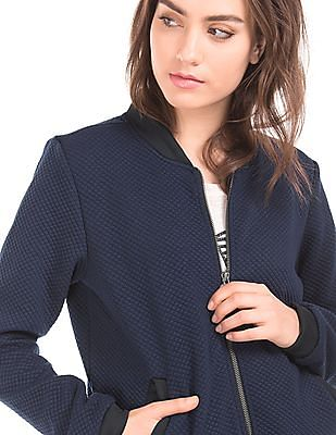 Flying Machine Women Quilted Bomber Jacket