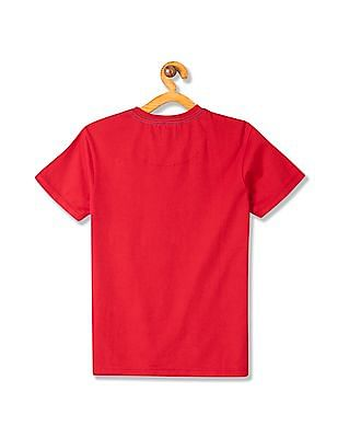 U.S. Polo Assn. Kids Boys V-Neck Cotton T-Shirt