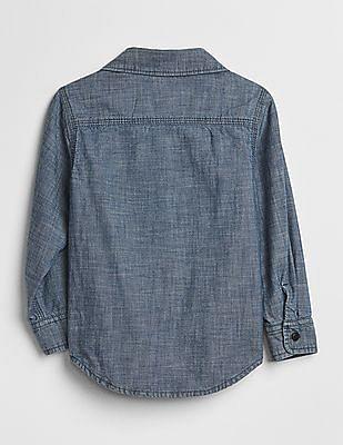 GAP Baby Jersey-Lined Chambray Shirt