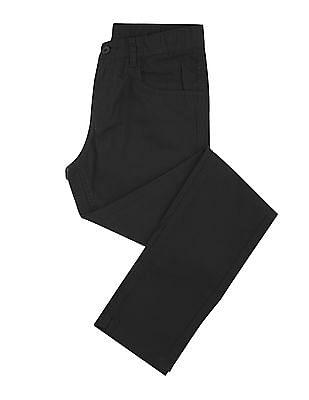 FM Boys Boys Mid Rise Slim Fit Trousers