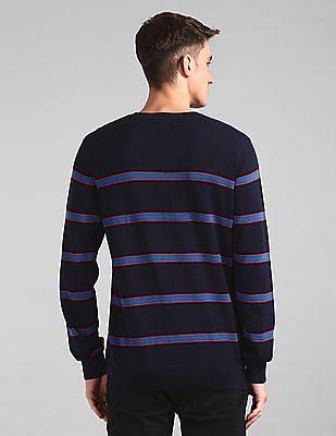 GAP Blue Crew Neck Striped Sweater