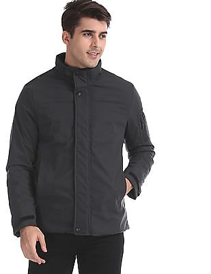 Arrow Sports Grey Detachable Hood Padded Jacket