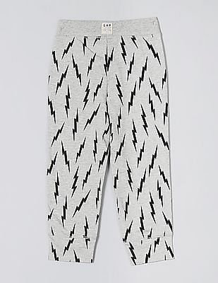 GAP Grey Toddler Boy Print Pull-On Pants