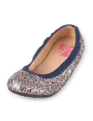 The Children's Place Baby Girl Glitter Ballet Flats