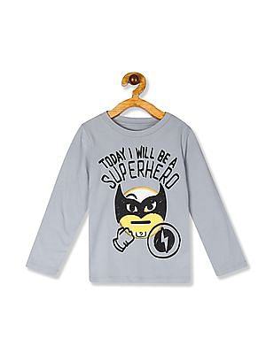 The Children's Place Grey Toddler Boy Long Sleeve Printed T-Shirt