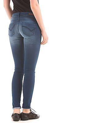 Flying Machine Women Super Skinny Fit Stone Wash Jeans