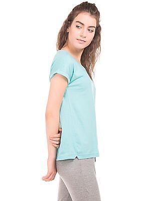 Newport Turn Up Sleeve Round Neck T-Shirt