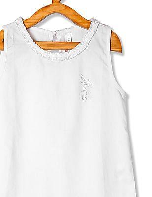 U.S. Polo Assn. Kids Girls Standard Fit Sleeveless Top