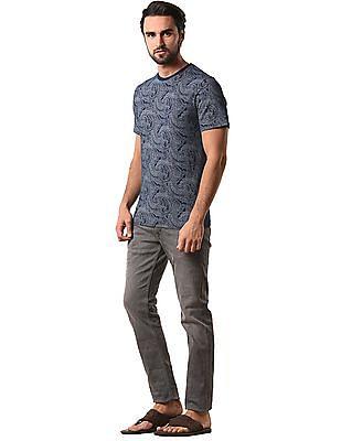 True Blue Slim Fit Printed T-Shirt