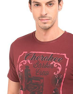 Cherokee Printed Cotton T-Shirt