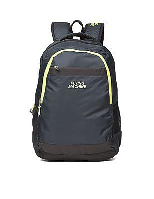 Flying Machine Contrast Zip Laptop Backpack