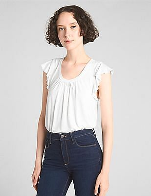 GAP Short Flutter Sleeve Top
