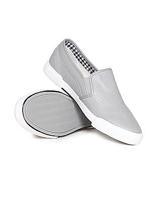 U.S. Polo Assn. Contrast Sole Perforated Slip-On Shoes