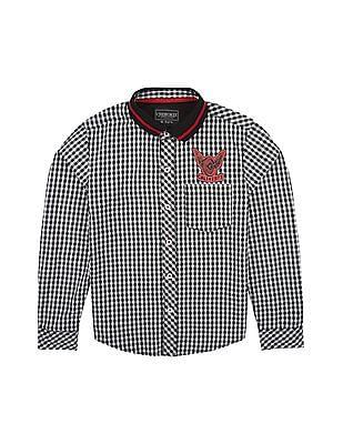 Cherokee Boys Ribbed Collar Check Shirt