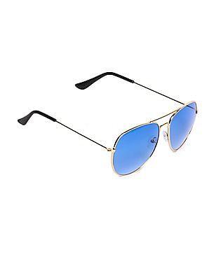 SUGR Metallic Frame Round Sunglasses