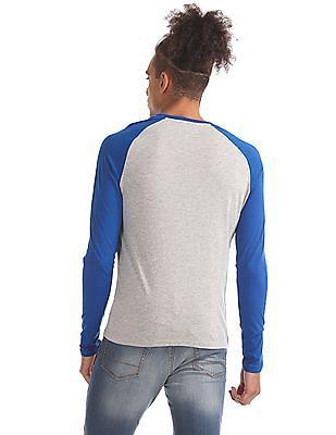 Aeropostale Colour Block Henley T-Shirt