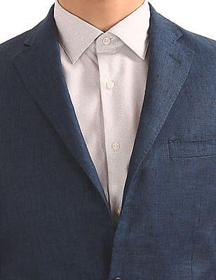 Arvind Yarn Dyed Linen Blazer