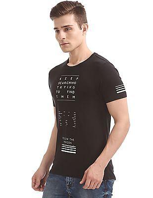 Flying Machine Glow In The Dark Print T-Shirt