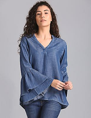 GAP Tiered Bell Sleeve Top